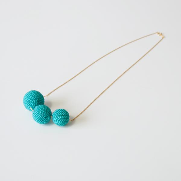 Beaded Beads ネックレス(マットターコイズ)