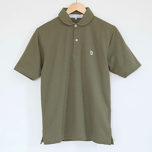 ポロシャツ ラウンドカラー Olive