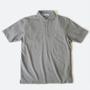 ポロシャツ ラウンドカラー  Grey