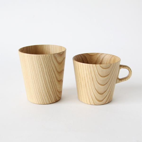 左:KAMI Glass ワイドL 右:KAMI マグカップM
