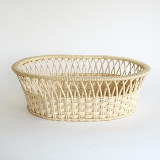 籐バスケット楕円(矢来)