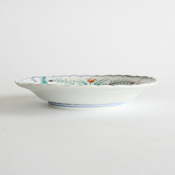 程良い深さのある直径16.5cmののどか文和皿