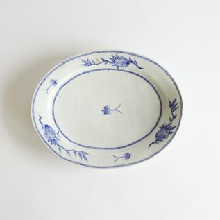 KUTANI SWALLOW OVAL PLATE