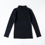 Long sleeve T-shirt with collar Black