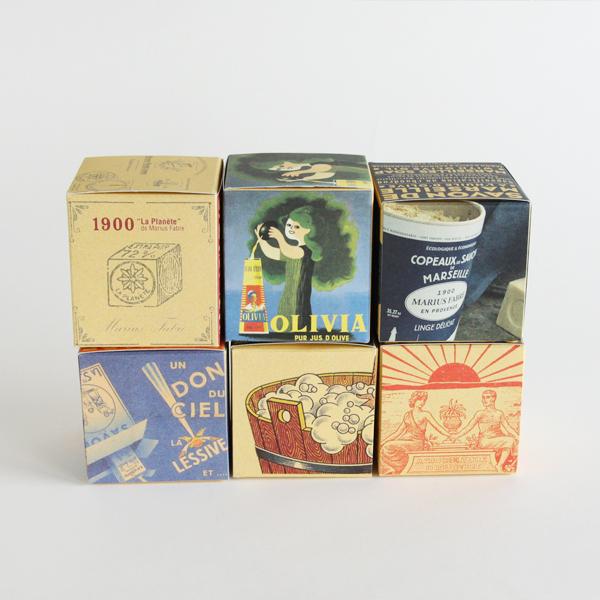 1900年代からの各年代に使用されていたパッケージデザインを復刻