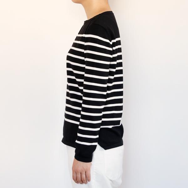 女性モデル身長:163cm、size:S (Noir x Latte)