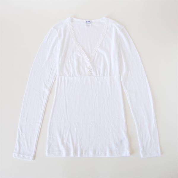 レディース ロングスリーブ AGATHE(white)