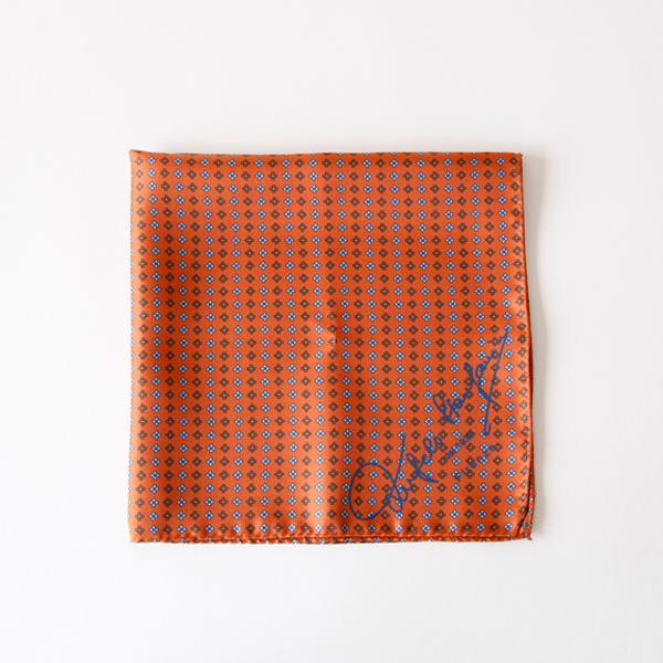 スカーフ 43×43(オレンジ)