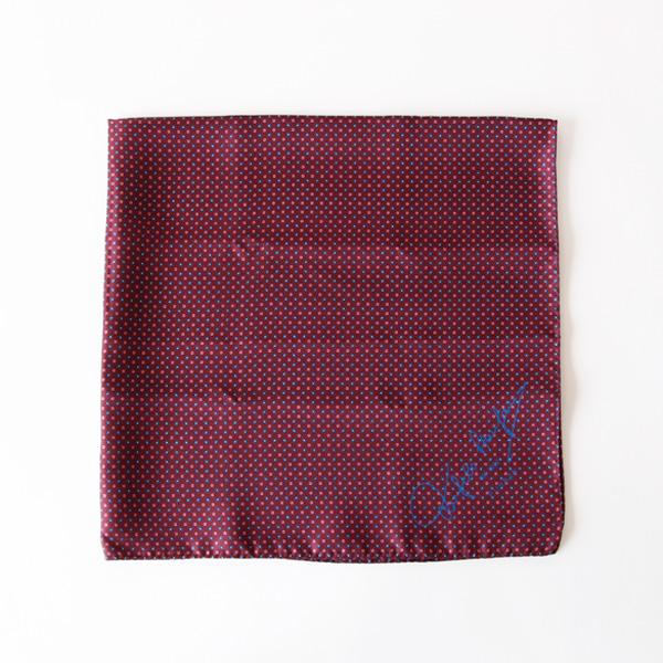 スカーフ 65×65(ボルドー)