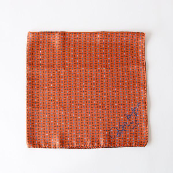 スカーフ 65×65(オレンジ)