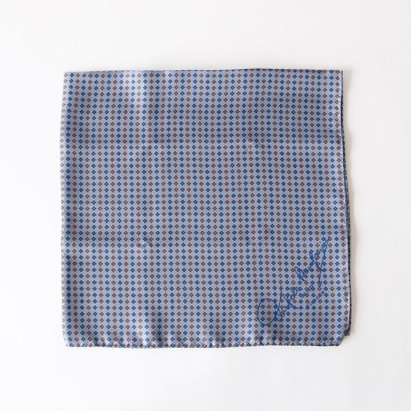 スカーフ 65×65(ブルーグレー)