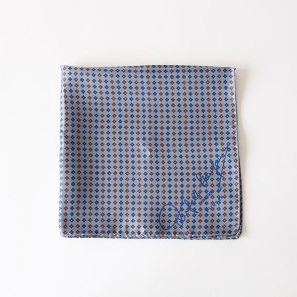スカーフ 43×43(ブルーグレー)