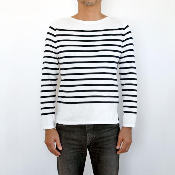 男性モデル身長:180cm、size:L (Latte x Marine)
