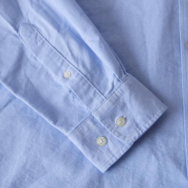 袖口(※詳細画像は別色のOXFORD LT.BLUE)