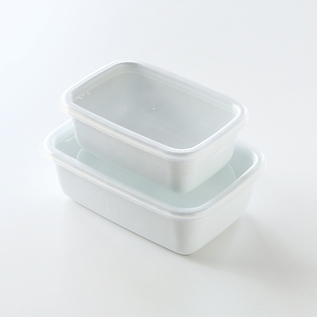 Porcelain Enamel Container White series Rectangle deep