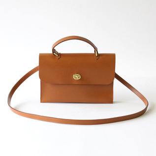 Leather Bag HEBE tan