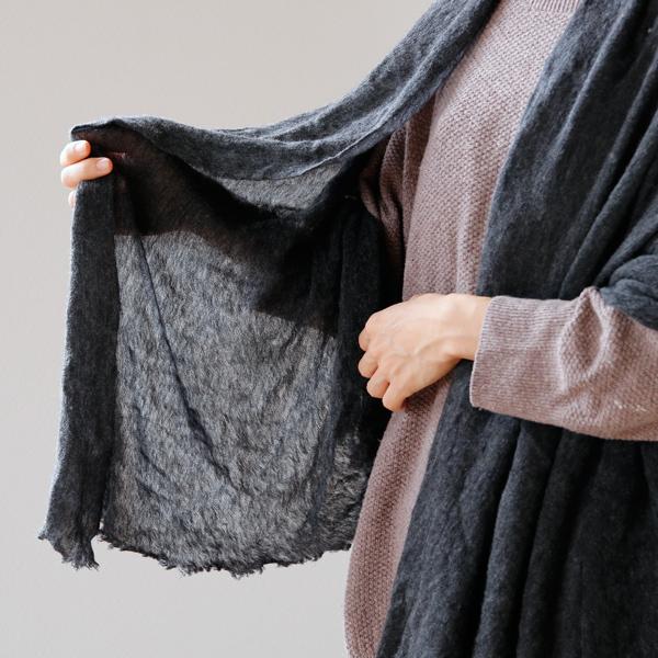 薄手で柔らかく、ふんわりとした気持ちの良い肌触り(charcoal grey)
