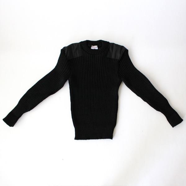 ウーリー・プーリー クルーネックセーター ブラック
