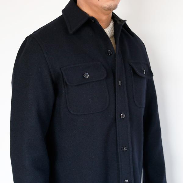 肉厚なメルトンウールを使用したシャツジャケットです