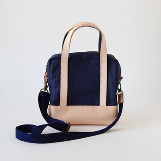 2way Square bag navy