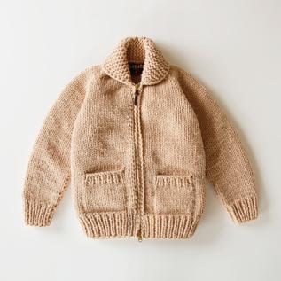 Shetland wool zip-up jacket