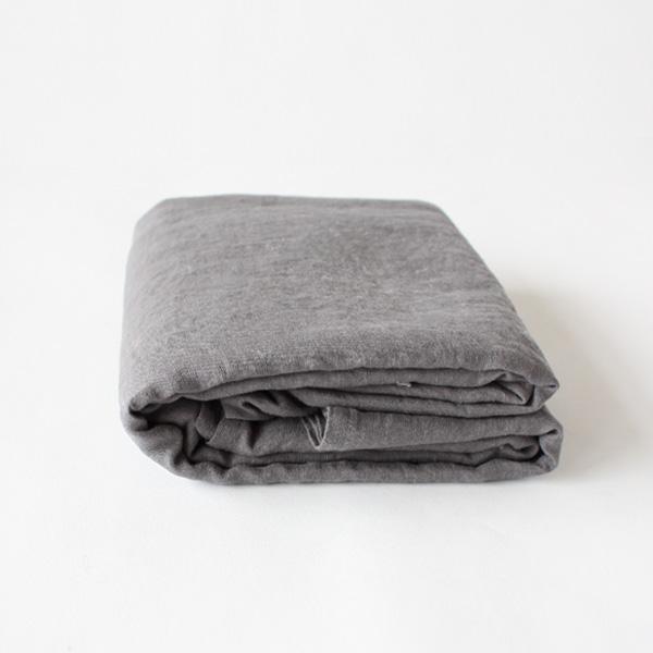 リネンフラットシーツ(Dark gray)