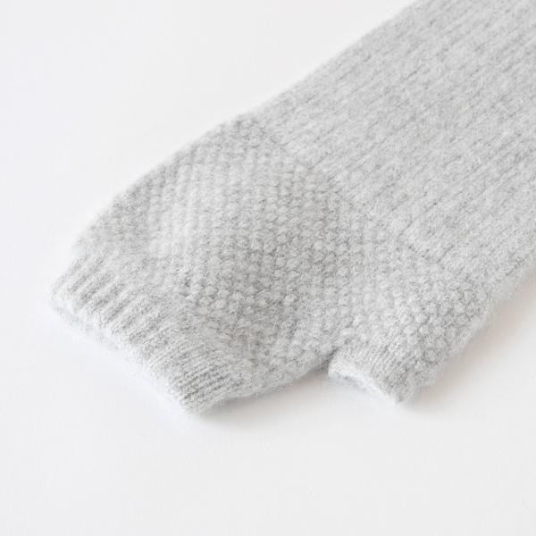 リブ編みと細かい編模様の切り替え
