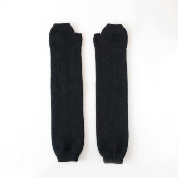 ロング フィンガーレス ミトン(BLACK)