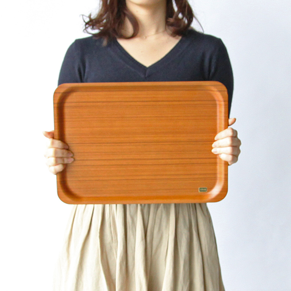 木製トレイサイズ感(チーク)