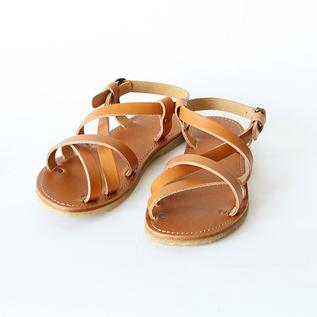 Leather strap sandals bio