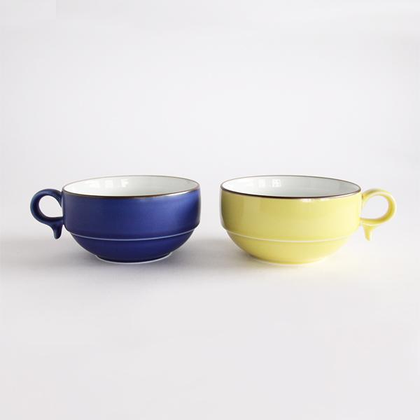 S型スープボール 2個セット(黄色/ブルー)