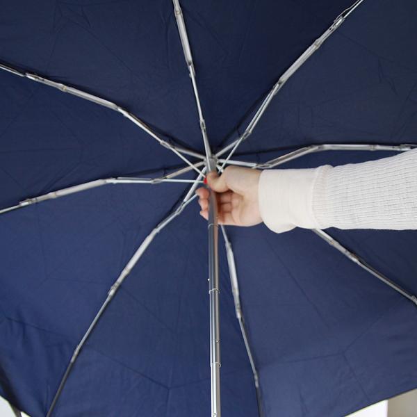 傘を広げる様子