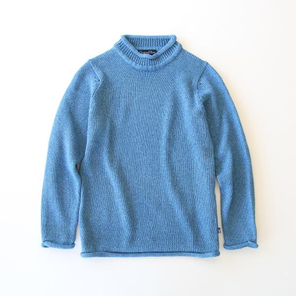 ROLL NECK コットン セーター(sax blue)