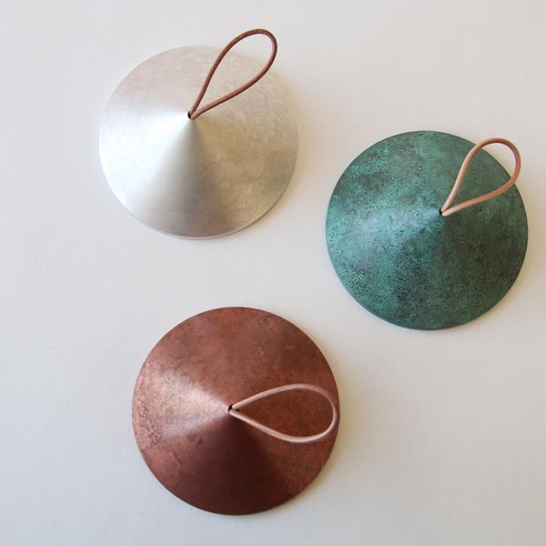 上からsilver、green、copper pink