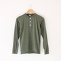 Henley Neck L-S Tee Olive