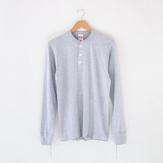 ヘンリーネック L/S Tee Heather Gray