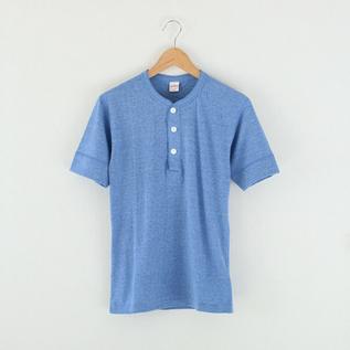 トライブレンド ヘンリーネック S/S H・Blue