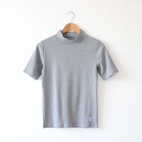 Ladys カットソー Mock Neck Tee(Ash Chine)