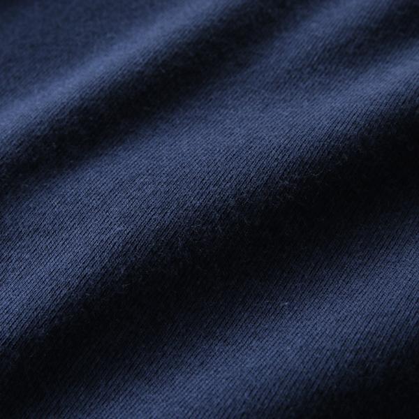 薄手の軽い素材感のコットン生地(Navy)