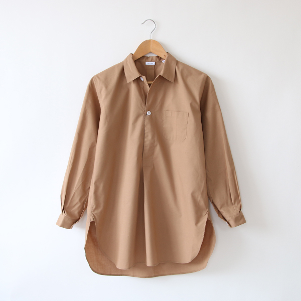 OVER SIZE PULLOVER シャツ(CAMEL)