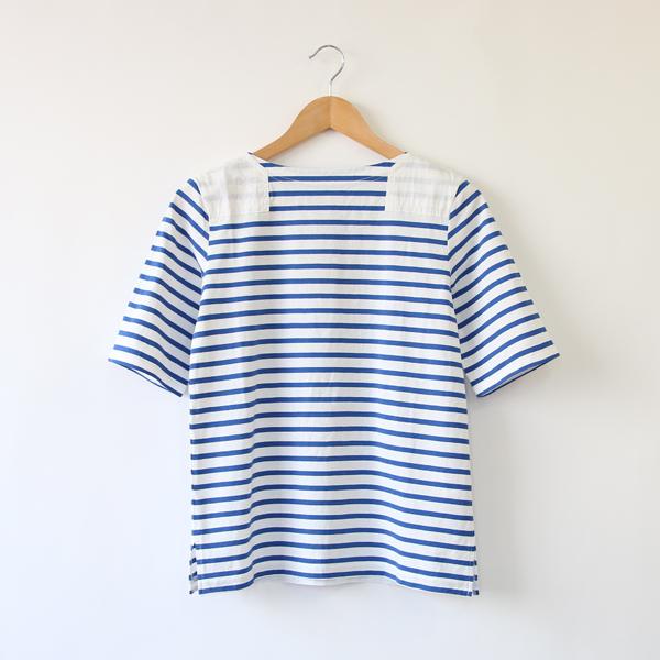 ショートスリーブ バスクシャツ(BLUE)