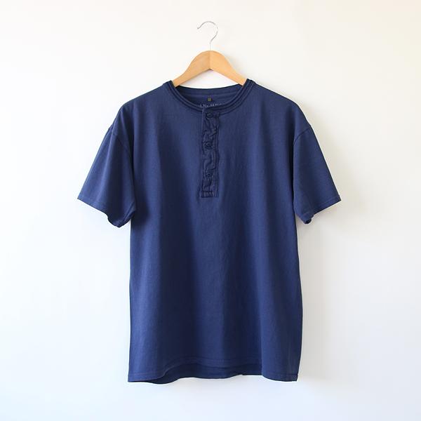 メンズ VINTAGE HENLEY Tシャツ(INDIGO)