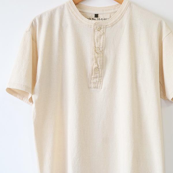 メンズ VINTAGE HENLEY Tシャツ(ECRU)