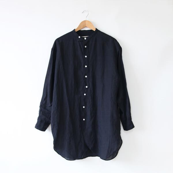 リネン チュニックシャツ(NAVY)