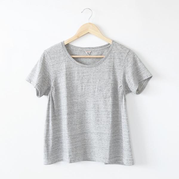 ANNIE ラウンドネックTシャツ(OLD MELANGE)