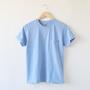 ユニセックス SUNNY クルーネックTシャツ MARINE BLUE MELANGE