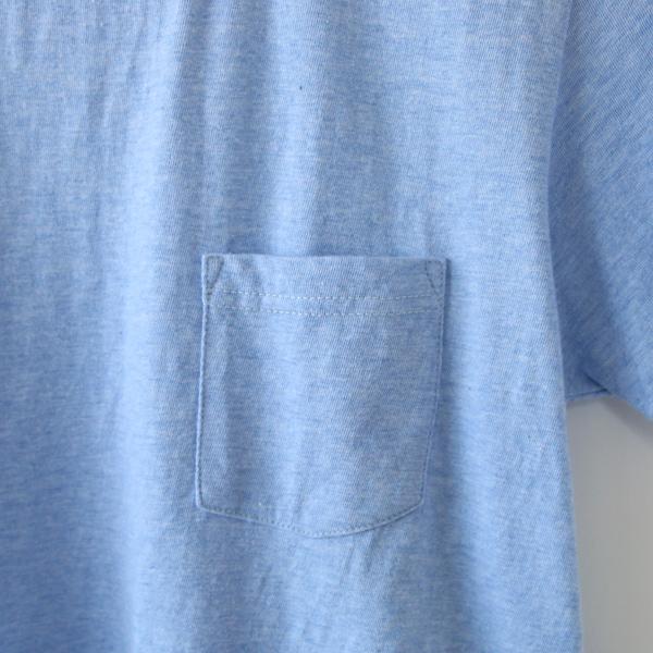 左胸ポケット(MARINE BLUE MELANGE)