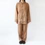 Gauze pajamas persimmon double