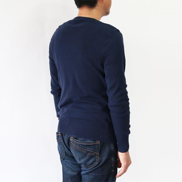 男性着用イメージ(身長:180cm 着用サイズ:L、Navy)