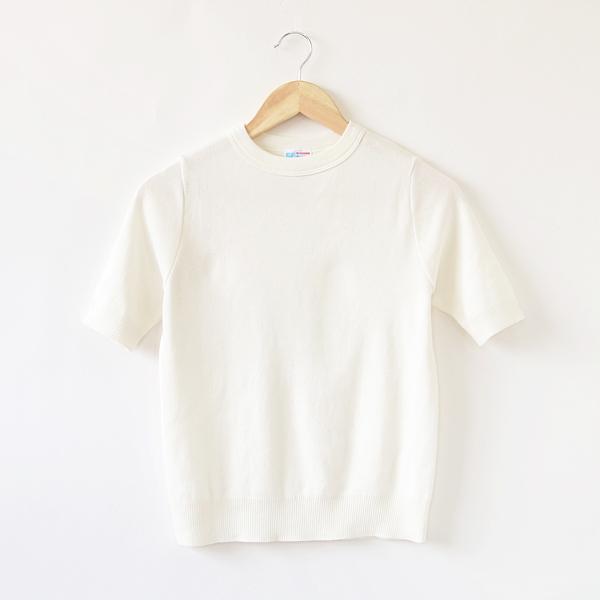 Thomas Shortクルーネック ニットTシャツ(Latte)